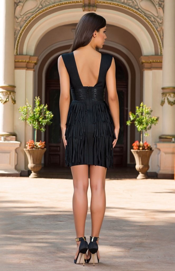 Prunellie Fringed Mini Dress from Vero Milano